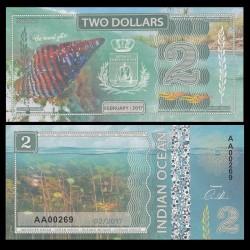 OCEAN INDIEN / INDIAN OCEAN - Billet de 2 DOLLARS - Pollia undosa - 2017 0002