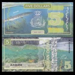 OCEAN INDIEN / INDIAN OCEAN - Billet de 5 DOLLARS - Barracuda - 2017