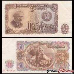 BULGARIE - Billet de 50 Leva - 1951