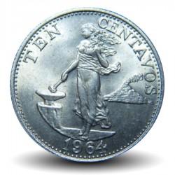 PHILIPPINES - PIECE de 10 Centavos - 1964 Km#188