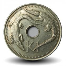 PAPOUASIE NOUVELLE GUINEE - PIECE de 1 Kina - Crocodiles - 1999