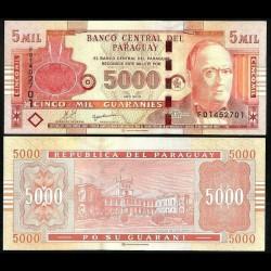 PARAGUAY - Billet de 5000 Guaranies - Don Carlos Antonio López - 2010 P223c