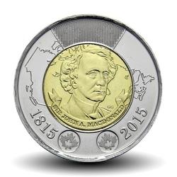 CANADA - PIECE de 2 DOLLARS - Sir John. A MacDonald - 2015