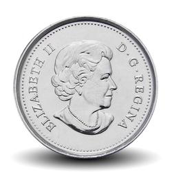 CANADA - PIECE de 25 CENTS - Drapeau canadien - 2015