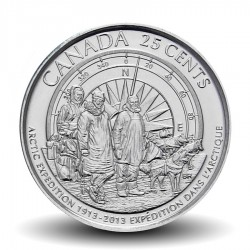 CANADA - PIECE de 25 Cents - Expedition canadienne dans l'arctique - 2013