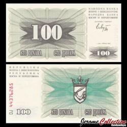 BOSNIE HERZEGOVINE - Billet de 100 Dinara - 1992