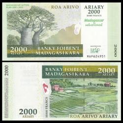 MADAGASCAR - Billet de 2000 Ariary - Plan d'action de Madagascar (MAP) 2007-2012 - 2007 P93a