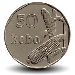 NIGERIA - PIECE de 50 Kobo - Épi de Mais - 2006 Km#13.3