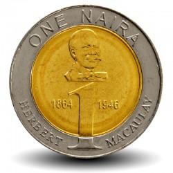 NIGERIA - PIECE de 1 Naira - Buste d'Herbert Macaulay - 2006 Km#18