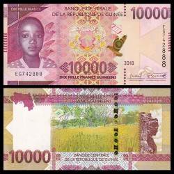 GUINEE - Billet de 10000 Francs - 2018 P52a
