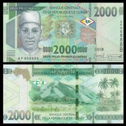 GUINEE - Billet de 2000 Francs - 2018 P51a