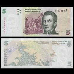ARGENTINE - Billet de 5 Pesos - Général José de San Martín - 2014 P353b