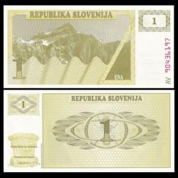 SLOVENIE - Billet de 1 Torlar - 1990 - Mont Triglav