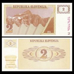 SLOVENIE - Billet de 2 Torlarja - 1990 - Mont Triglav