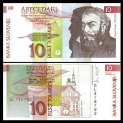 SLOVENIE - Billet de 10 Torlarjev - 1992 -Primož Trubar
