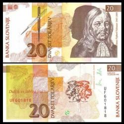 SLOVENIE - Billet de 20 Torlarjev - 1992 - Janez Vajkard Valvasor