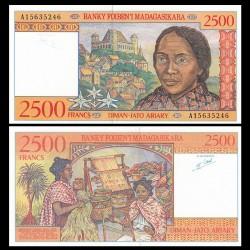 MADAGASCAR - Billet de 2500 Francs - Palais de la Reine - 1998