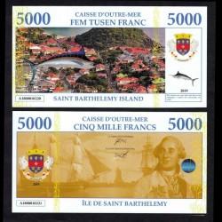 SAINT BARTHELEMY - Billet de 5000 Francs - Marlin / Louis XVI - 2019