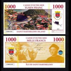 SAINT BARTHELEMY - Billet de 1000 Francs - Marlin / Christophe Colomb - 2019