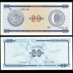 CUBA - Billet de 20 Pesos - 1985