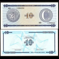 CUBA - Billet de 10 Pesos - 1985