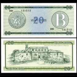 CUBA - Billet de 20 Pesos - Forteresse de la Force Royale - 1985 Pfx9