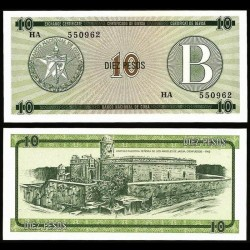CUBA - Billet de 10 Pesos - Forteresse de la Force Royale - 1985 Pfx8