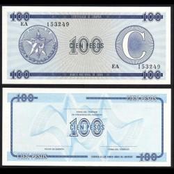 CUBA - Billet de 100 Pesos - 1985