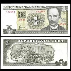CUBA - Billet de 1 Peso - José Martí - 2008