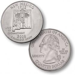 ETATS-UNIS / USA - PIECE de 25 Cents (Quarter States) - Nouveau Mexique - 2008