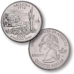 ETATS-UNIS / USA - PIECE de 25 Cents (Quarter States) - Arizona - 2008