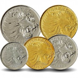 ETHIOPIE - SET / LOT de 5 PIECES - 1 5 10 25 50 Senteem - 2005 2008