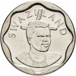 SWAZILAND - PIECE de 20 Cents - Mswati III - Tête d'éléphant (Petit module)  - 2011