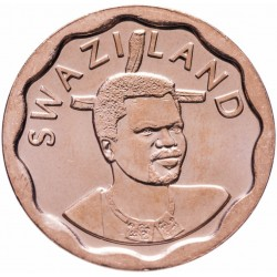 SWAZILAND - PIECE de 5 Cents - Mswati III - Zantedeschia aethiopica - 2011