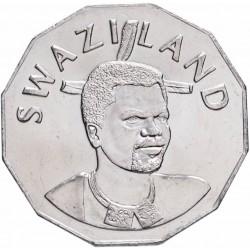 SWAZILAND - PIECE de 50 Cents - Mswati III - Emblème national (lion et éléphant) - 2007