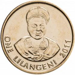 SWAZILAND - PIECE de 1 Lilangeni - Mswati III - Reine mère Ntmobi Tfwala - 2011 Km#60