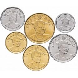 SWAZILAND - SET / LOT de 6 PIECES de 10 20 50 Cents 1 Lilangeni 2 5 Emalangeni - 2015