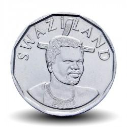 SWAZILAND - PIECE de 20 Cents - Mswati III - Tête d'éléphant - 2015