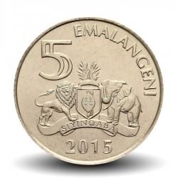 SWAZILAND - PIECE de 5 Emalangeni - Mswati III - 2015