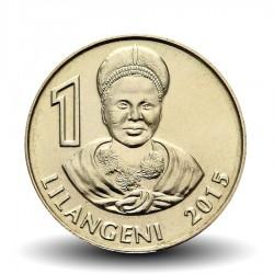 SWAZILAND - PIECE de 1 Lilangeni - Mswati III - Reine mère Ntmobi Tfwala - 2015 Km#New