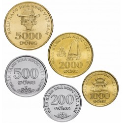 VIETNAM - SET / LOT de 5 PIECES de 200 500 1000 2000 5000 Dong - 2003 Km#71 72 73 74 75