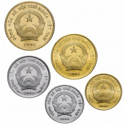 VIETNAM - SET / LOT de 5 PIECES de 200 500 1000 2000 5000 Dong - 2003