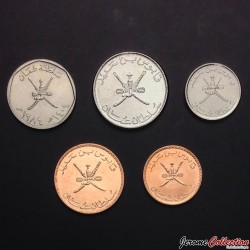 OMAN - SET / LOT de 5 PIECES - 5 10 25 50 100 Baisa - 1984 2011 2013 2014
