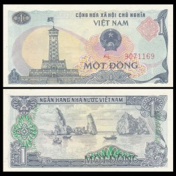 VIETNAM - Billet de 1 Dong - Tour du drapeau - 1985