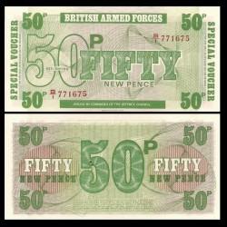 ROYAUME-UNI / ARMEE - Billet de 50 New Pence - 1972