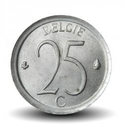 BELGIQUE - PIECE de 25 Centimes - Baudouin Ier - Belgie - 1973