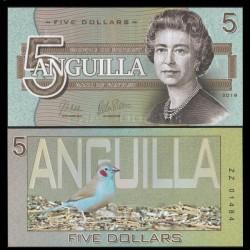 ANGUILLA - Billet de 5 DOLLARS - SERIE OISEAUX - 2019 0005
