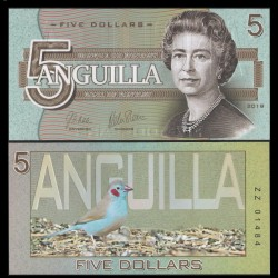 ANGUILLA - Billet de 5 DOLLARS - SERIE OISEAUX - 2019