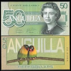 ANGUILLA - Billet de 50 DOLLARS - SERIE OISEAUX - 2019