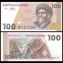 KIRGHIZISTAN - Billet de 100 Som - Toktogul Satylganov - 1994 P12a
